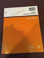CASE MODEL 380 380CK LAND UNI-LOADER  SKIDSTEER TRACTOR PARTS CATALOG  MANUAL