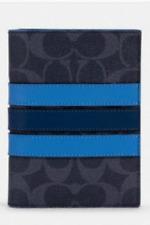NEW  AUTHENTIC COACH  SIGNATURE  PASSPORT CASE #91274   Blue
