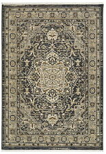 4' x 6' Karastan Machine Woven Area Rug Regency Charcoal Multi Transitional