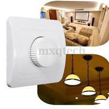 AC 110V-250V 1 Gang On/Off Switch Wall Plate LED Light Dimmer Controller Panel