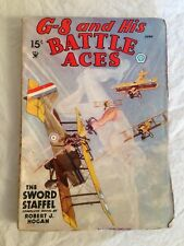G-8 and His Battle Aces - June 1935 Volume 6 - Sword Staffel by Robert J Hogan