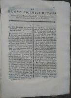 1790 NUOVO GIORNALE D'ITALIA. BELLUNO: INFLUENZA DEI PIANETI E LUNA SULLA TERRA