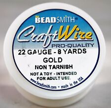 Beadsmith Craft Wire Pro Quality Gold 22 Gauge 8 yards