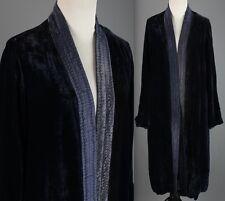 VTG Women's 1920s 1930s Blue Velvet Jacket #1588 20s 30s Flapper Robe