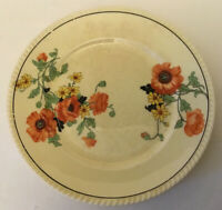 Vtg Sebring Pottery Co Golden Maize 'The Poppy' Small Dessert Plate Floral F-1