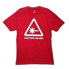 Caution: Nerdist — Red T-Shirt XXL 2XL — Chris Hardwick Nerdist.com — BRAND NEW