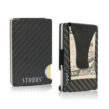 Storus Smart Money Clip II, Minimalist Carbon Fiber RFID Blocking, Engraved