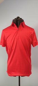 J Lindeberg Mens Casual Basic Golf Polo Shirt Short Sleeve Regular Fit Red M