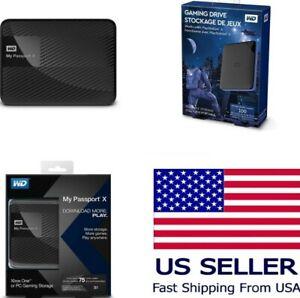 WD 5TB 4TB 2TB My Passport X Portable External Hard Drive Sony PS4 PS5 Xbox One