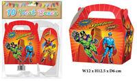 10 Super Hero Treat Boxes - Small Cupcake Food Loot Cardboard Gift