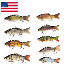 9 Swimbaits Lure Fishing Lures Multi Jointed Bass Muskie Pike Stripe Lot Fishing