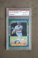 1987 Donruss The Rookies Rafael Palmeiro Rookie Card #47 PSA Graded 8 NM~MT