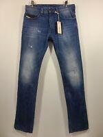 NWT Men's DIESEL, Thavar 0663E  Slim-Skinny JEAN. 29x32 - Mid-Blue