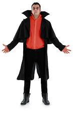Negro de hombre victoriano FRAC Abrigo Drácula Vampiro Disfraz de Halloween