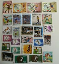 25 Different Throwing Sports Stamps Collection - Shot, discus, javelin etc