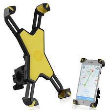 RockBros Phone Bracket Universal Support Adjustable Bicycle Phone Holder Yellow