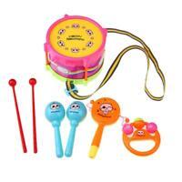 5pcs Baby Infant Toddler Developmental Educational Toy Drum Rattles Xmas Gifts