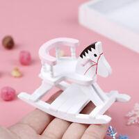 1:12 maison de poupée miniature chaise en bois blanc à bascule meubles jouets