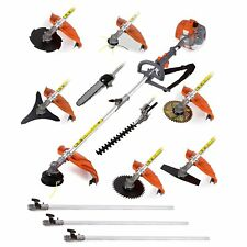 Multifunctional 52cc engine 12 in 1 Petrol Hedge Trimmer Chainsaw brushcutter