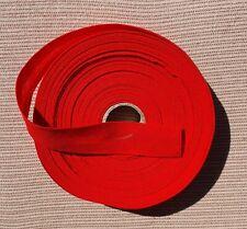 Schrägband Baumwolle Breite 20 mm gefalzt rot-  20 Meter -