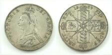 United Kingdom / Great Britain 1889 Double Florin .925 Silver Coin