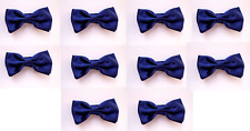 LOT OF 10 Royal Blue Men's Adjustable Bowties/Bow tie Tuxedo Wedding