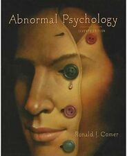 ABNORMAL PSYCHOLOGY SEVENTH EDITION 7/7th by RONALD J. COMER Ed. Seven 7E 2010