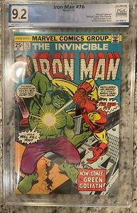 IRON MAN #76 PGX 9.2!! NEW CASE!! NOT CGC Incredible Hulk Cover! 1-100 Listed!