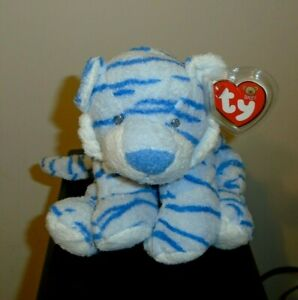 NMT* Ty Baby TY BABY GROWLERS Blue the Tiger (10 Inch) MWNMT Stuffed Plush Toy