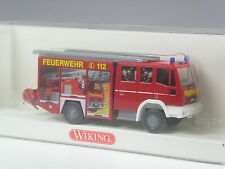TOP: Wiking Iveco Euro Fire Feuerwehr LF 16/12 bunt mit Mannschaft in OVP