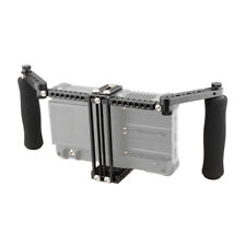 """CAMVATE Camera Monitor Cage Adjustable Foam Handles for DSLR 5""""&7"""" LCD Display"""