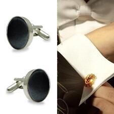 New 2pcs Elegant Fashion Men Black Silk Cloth Cufflink For Gifts High Quality MT