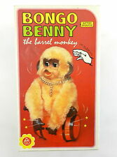 """Alps #032 Battery Operated Bongo Benny The Barrel Monkey Toy """"BOX ONLY"""" ~ Japan"""