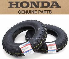 "Genuine Honda Tractor Grip Front Rear Tires Tire Set 3.50-8"" 79-99 Z50R Z50 #O01"