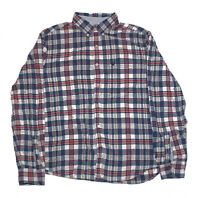 AMERICAN EAGLE Mens Size Large Long Sleeve Button Down Plaid Shirt Red/Blue