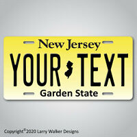 New Jersey YOUR TEXT Personalized Custom Aluminum Vanity License Plate Tag NEW B