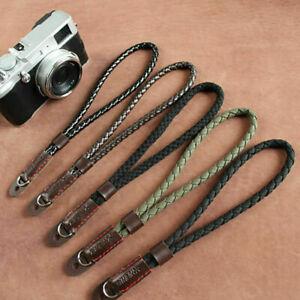 Black Digital Mirrorless Camera Wrist Hand Strap Soft New Linen Cotton Type K2E6