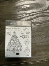 STAMPIN UP Memories Of Home Stamp Set NEW  (Christmas Tree / Ornaments)