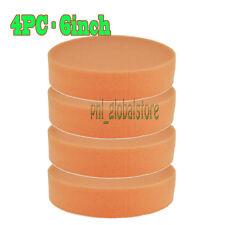 4pc 6Inch Orange Flat Cutting Pad Buffing pad & Polishing pad for car polisher