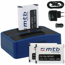 3x Baterìa + Cargador doble (USB) NP-BX1 para Sony Action Cam HDR-AS10,AS15,AS20