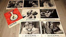 AMOUR DE POCHE jean marais jeu photos cinema lobby cards 1957 + scenario