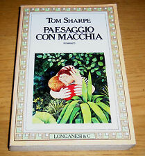 PAESAGGIO CON MACCHIA Humour inglese Narrativa Sharpe LONGANESI & C. Edit. 1986