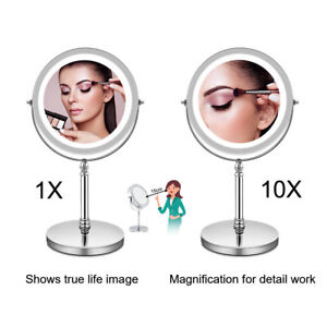"7"" Round 10X Magnifying Make Up Mirror Bathroom Cosmetic Shaving Mirror UK"