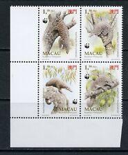 S592 Macau 1995 Asian Pangolin fauna Wwf block Mnh