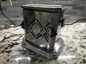 "Antique(circa1920-1949) Kitchen Toaster ""Fostoria Bersted Mfg.#80"",Chrome"