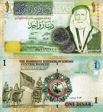 JORDAN 1 Dinar Banknote World Paper Money UNC Currency Pick p34g 2013 King