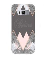Coque Galaxy S8 believe marbre geometrique tropical jungle gris