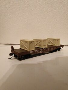 HO Athearn RTR Pennsylvania PRR 40' Flatcar with Load