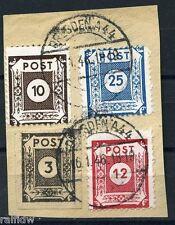 SBZ Ziffern 1945 Briefstück mit Postmeistertrennungen geprüft (S6627)