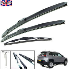 """Jeep Cherokee 2013-on hybrid wiper blades set of front & rear 26""""18""""14"""""""